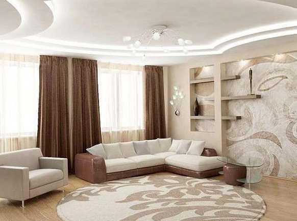 Ремонт гостиной дизайн реальные