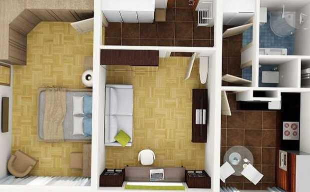 Дизайн и планировка квартиры 50 квм